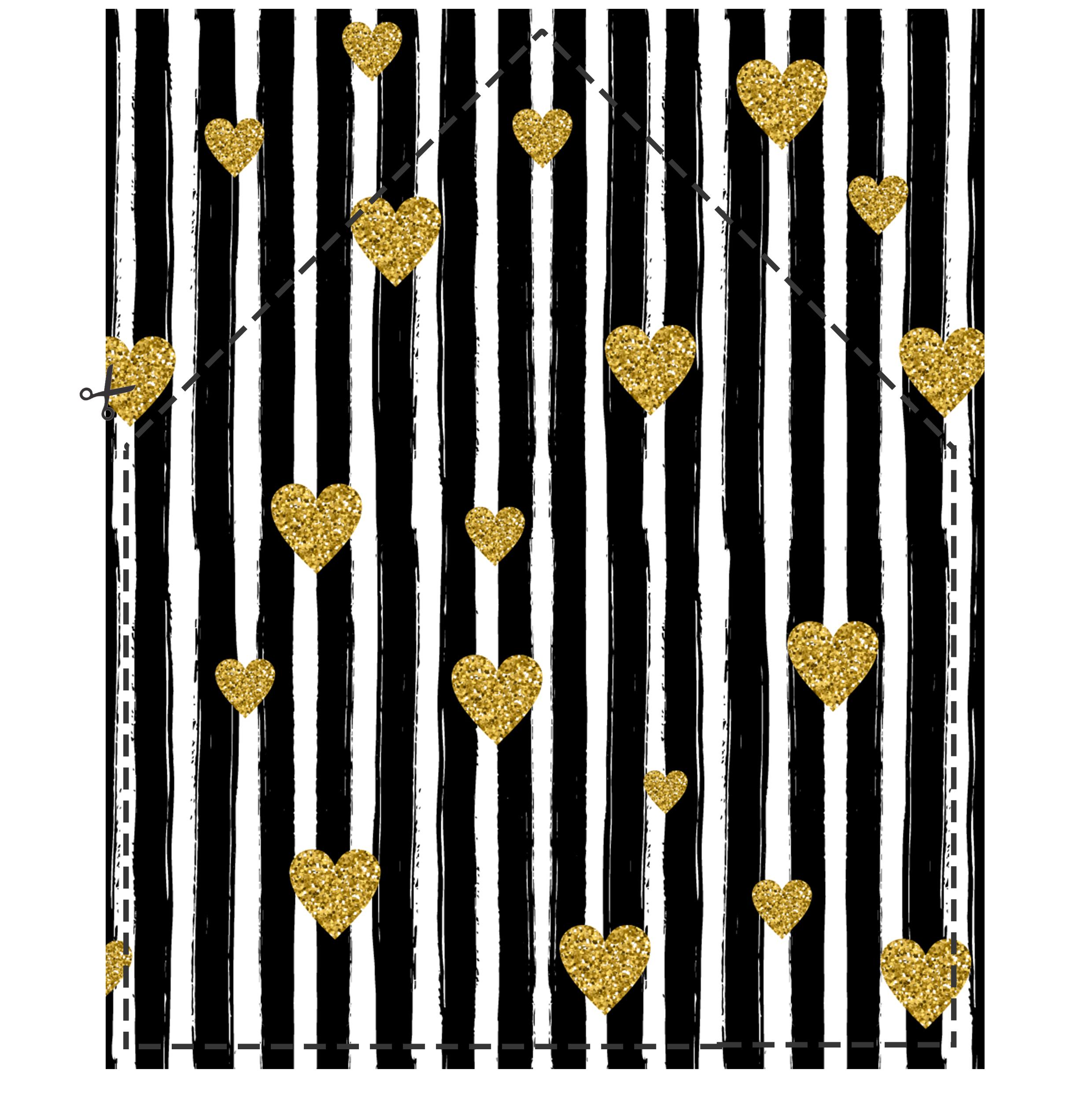 šablóna-vložka-do-obálky-na-stiahnutie-glamoure-čierne-pruhy-a-zlaté-srdiečka