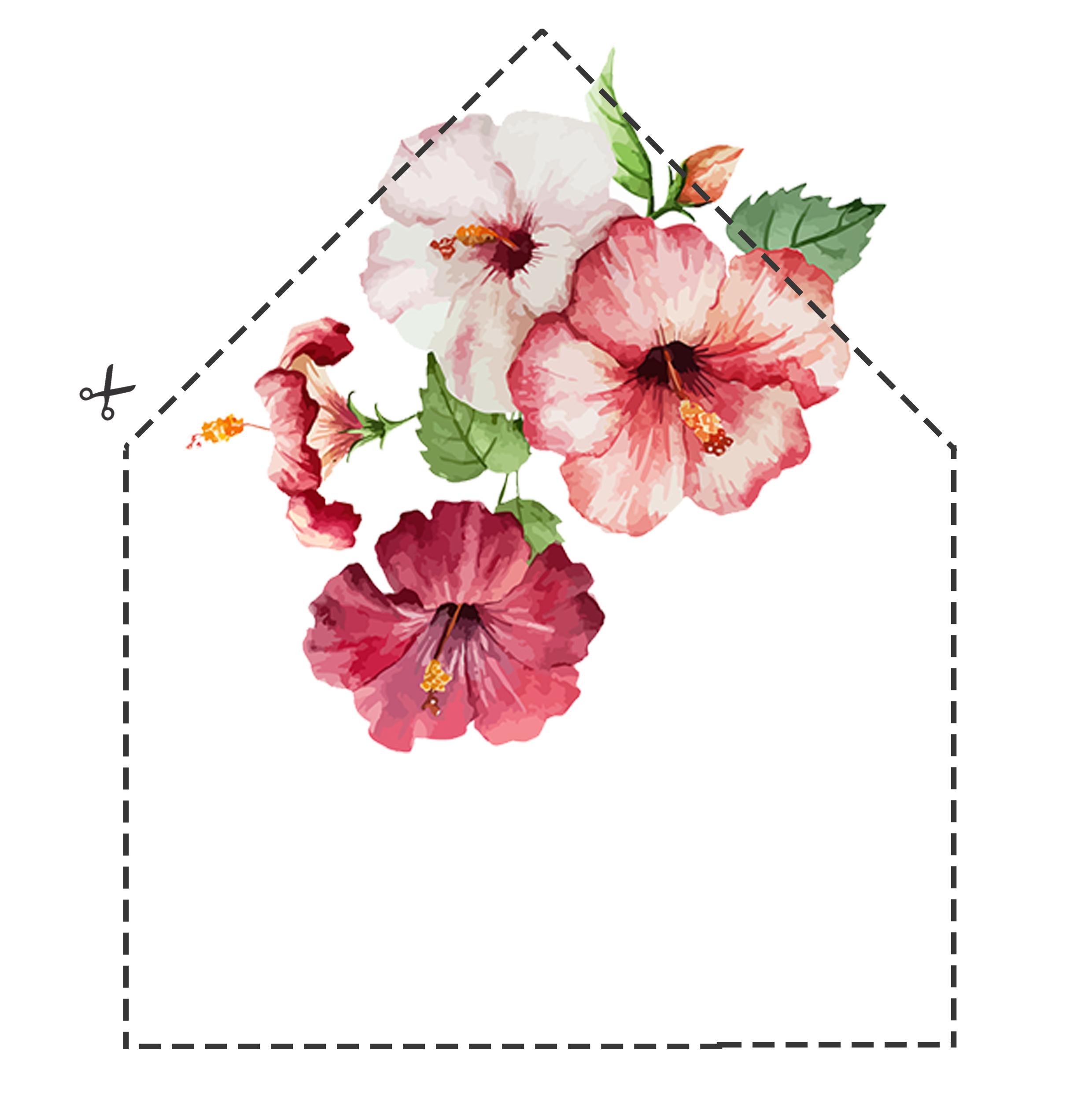 šablóna-vložka-do-obálky-na-stiahnutie-kvety-ibišteka