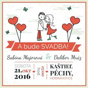 kreslené svadobné oznámenie
