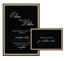 F svadobné oznámenie glamour čierne