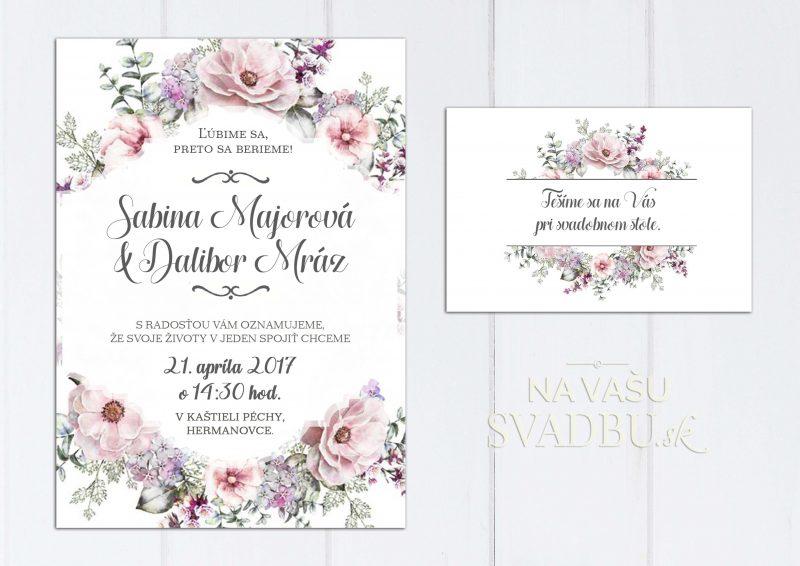Romantické svadobné oznámenie s divými ružami