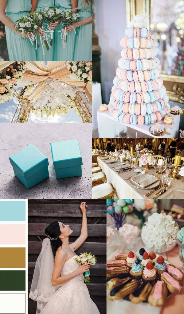 Svadobná téma pastelovo zlatá svadba
