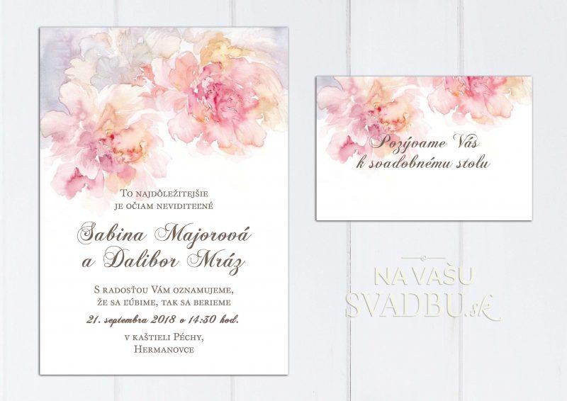 Svadobné oznámenie akvarelové