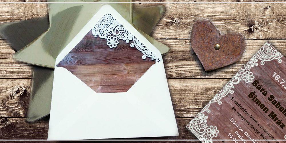 DIY vložky s potlačou do svadobnej obálky
