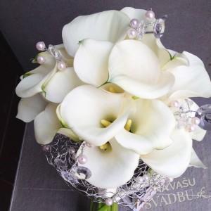 Svadobná kytica biele kaly