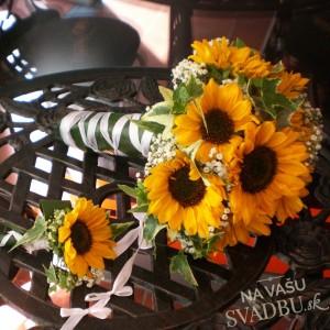Svadobná kytice slnečnice