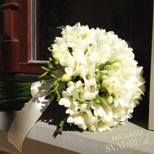svadobná kytica z bielých ľalií