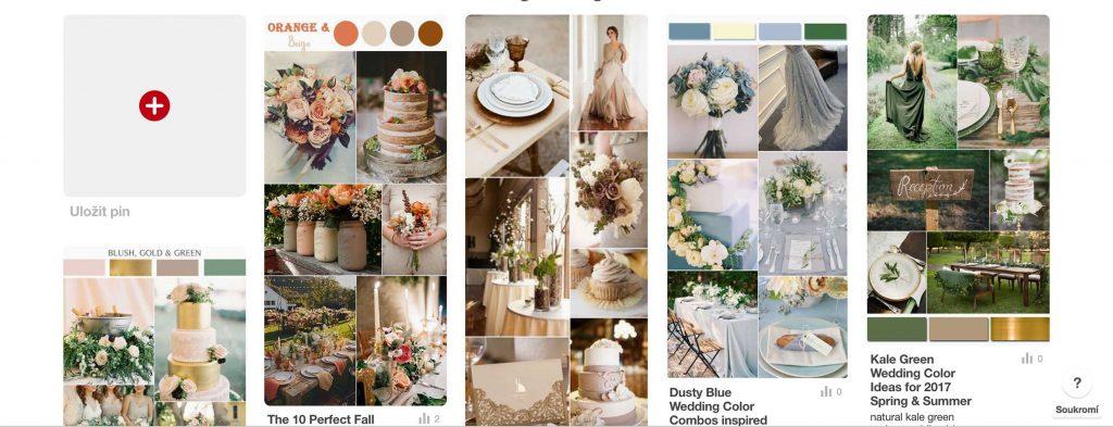 pinterest svadobné témy