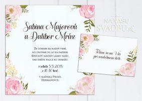 pivoniove stvorcove svadobne oznamenie