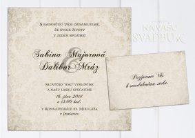 svadobné oznámenie vintage Charmed