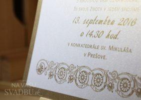 vysokolesklý biely papier so zlatou perleťou